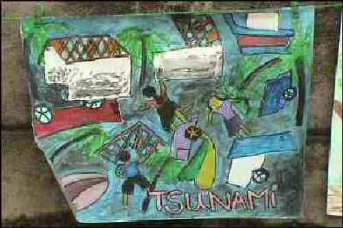 Painting by Tsunami survivors