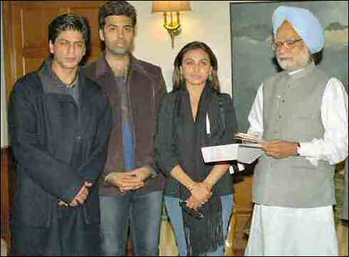 Shahrukh Khan, Rani Mukherjee donating for Prime Minister Relief Fund